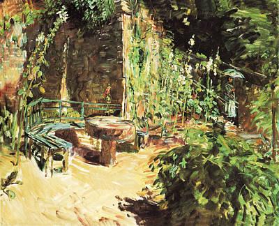 Photograph - Sunny Garden Corner In Neukastel by Max Slevogt