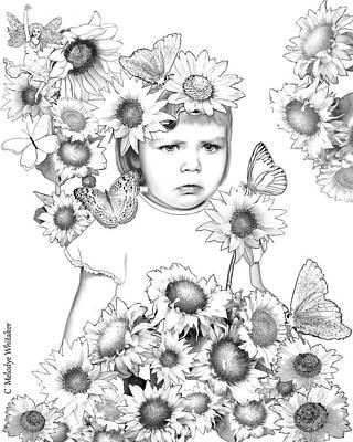 Drawing - Sunny Girl by Melodye Whitaker