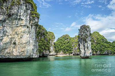 Photograph - Sunny Halong Bay by Delphimages Photo Creations
