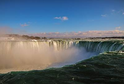 Photograph - Sunny Horseshoe Falls by Perggals - Stacey Turner