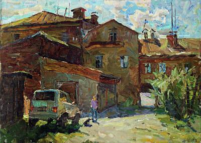 Painting - Sunny Patio by Juliya Zhukova
