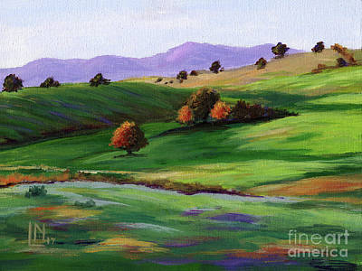Painting - Sunny Landscape by Lisa Norris