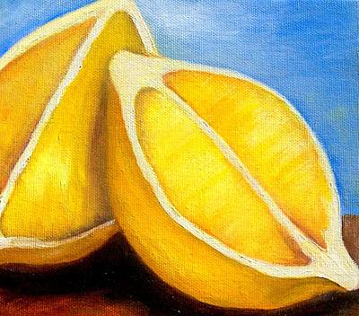 Painting - Sunny Lemons by Susan Dehlinger
