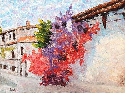 A Sunny Morning Painting - Sunny Morning In Greece by Sergei Kolesov