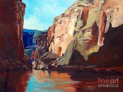 Sunny Morning On The Mighty Colorado Art Print