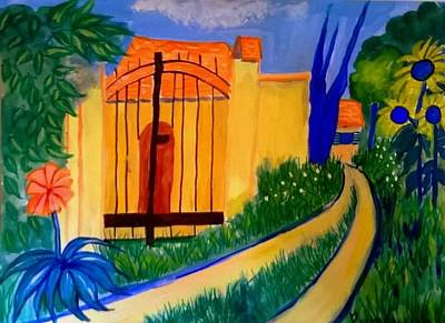 Painting - Sunny Nesles France by Rusty Gladdish