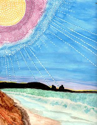 Sunny Ocean Days Are Bigger Than Life Art Print