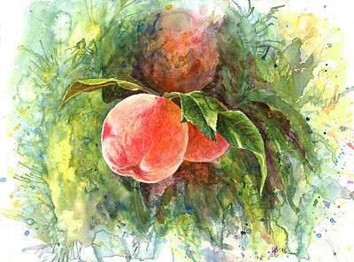 Sunny Peaches Original by Irina Viatkina