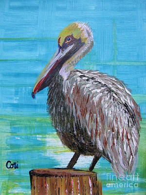 Painting - Sunny Pelican Day by Corinne Carroll