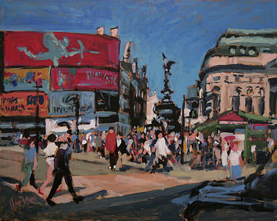 Square Painting - Sunny Piccadilly by Nop Briex