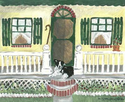 Sunny Porch Art Print by Sue Ann Thornton