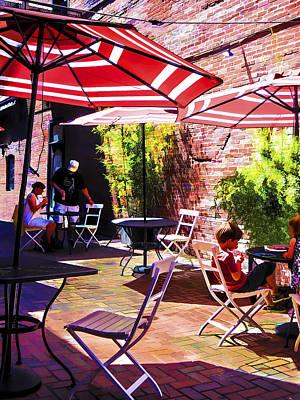 Patio Umbrellas Digital Art - Sunny Portland Day by Mary Marczak