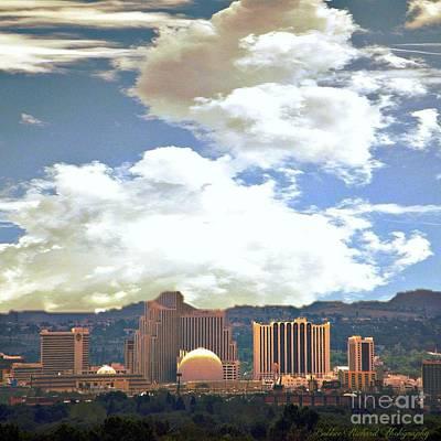 Photograph - Sunny Reno Skyline by Bobbee Rickard