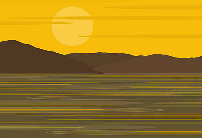 Digital Art - Sunny River II by Val Arie