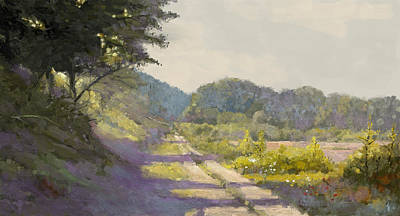 Painting - Sunny Road To The Forest by Arie Van der Wijst