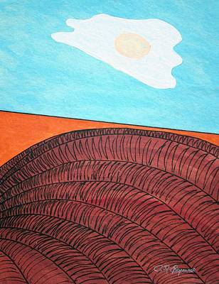Mixed Media - Sunny Side Up Makin Bacon Day by J R Seymour