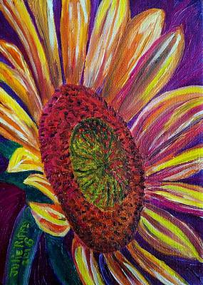 Painting - Sunny Side Up-sunflower by Julie Brugh Riffey