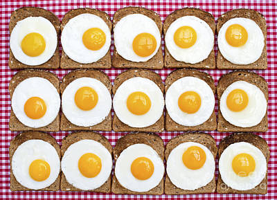 Gingham Photograph - Sunny Side Up by Tim Gainey