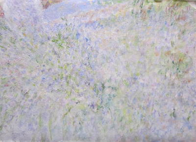 Painting - Sunny Sidewalk Of Lavender by Glenda Crigger