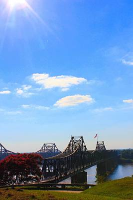 Photograph - Sunny Skies At Vicksburg Bridges by Karen Wagner
