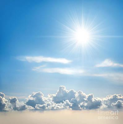 Indigo Photograph - Sunny Sky by Carlos Caetano