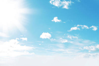 Sunny Sky Art Print by Les Cunliffe