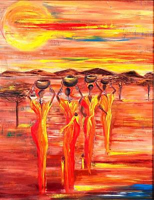Sunny South Africa Art Print by Marietjie Henning