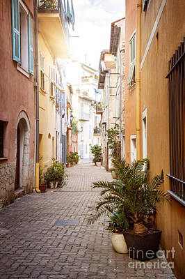 Photograph - Sunny Street In Villefranche-sur-mer by Elena Elisseeva
