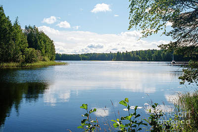 Photograph - Sunny Summer Day In Kangaslampi Finland by Ismo Raisanen