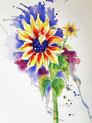 Painting - Sunny Sunflower by Hilda Vandergriff