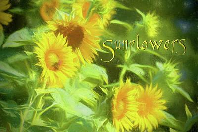 Photograph - Sunny Sunflowers by Kathy Clark