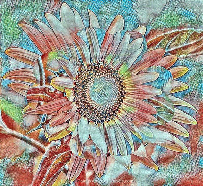 Mixed Media - Sunny Sunflowers by PainterArtist FIN
