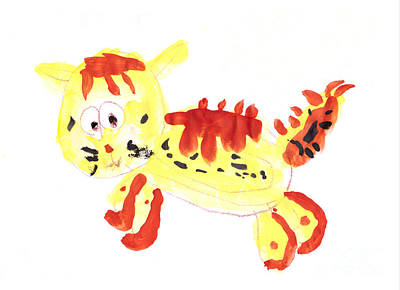 Sunny Painting - Sunny Tiger by Nat Air Craft