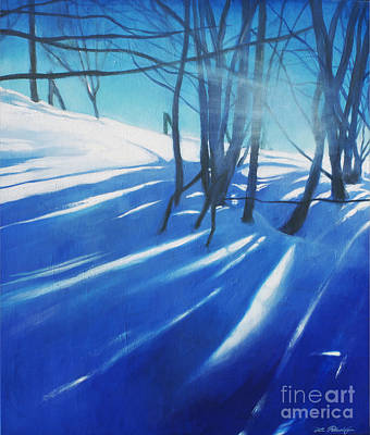 Lin Painting - Sunny Traintrip To Hamar by Lin Petershagen