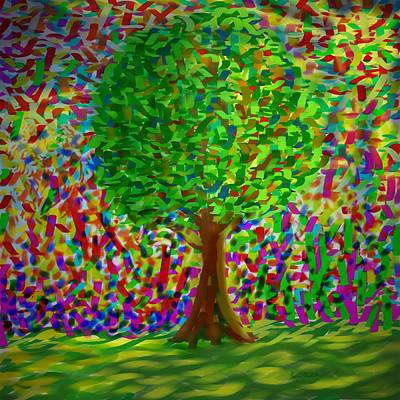 Art Print featuring the painting Sunny Tree by Kevin Caudill