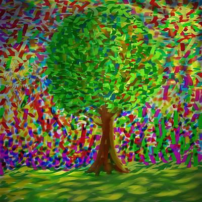 Sunny Tree Art Print by Kevin Caudill