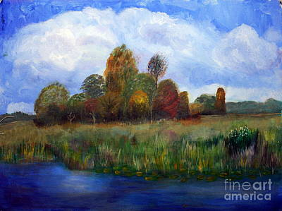 Nature Center Painting - Sunny Winter Day At Loxhatchee by Donna Walsh
