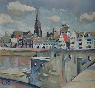 Painting - Sunny Wyck Maastricht by Nop Briex