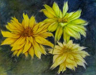 Sunny Yellow Art Print by Barbara O'Toole