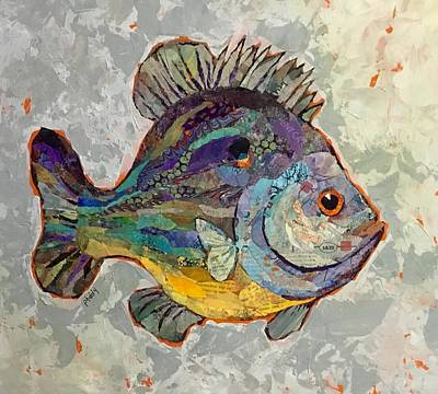 Painting - Sunnyfish by Phiddy Webb