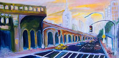 7 Train Painting - Subway #7 New York City by Lisa LoCurto