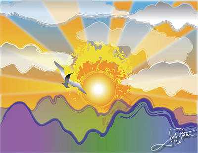 Wall Art - Painting - Sunnyside Up by Jack Potter