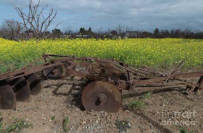 Photograph - Sunnyvale Heritage Orchard Tiller by Glenn Franco Simmons