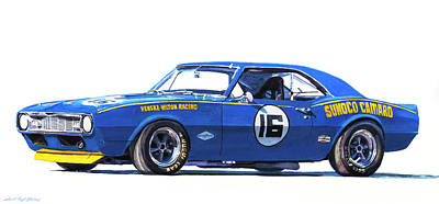 Painting - Sunoco Camaro Z28  by David Lloyd Glover