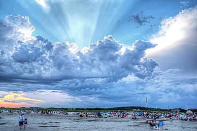 Photograph - Sunrays Over Good Harbor Beach Gloucester Ma by Toby McGuire