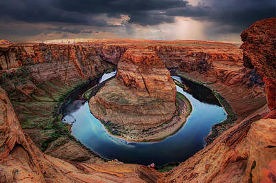 Photograph - Sunrays Over Horseshoe Bend by Gregory Ballos