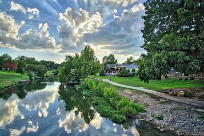 Photograph - Sunrays Over The Creek by Lynn Bauer