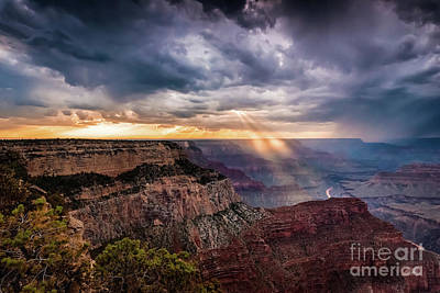 Photograph - Sunrays Over The Grand Canyon by Alissa Beth Photography