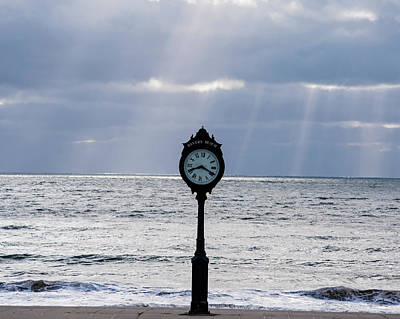 Photograph - Sunrays Over The Revere Beach Clock by Toby McGuire