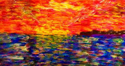 Painting - Sunrise #1  15-7 by Patrick OLeary
